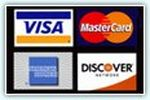 All major credit cards